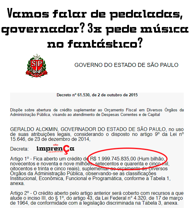 Pedaladas de Alckmin