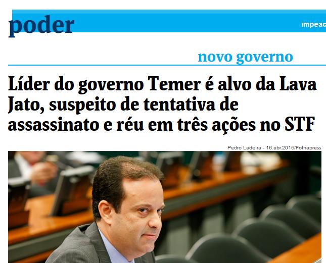 lider do governo Temer