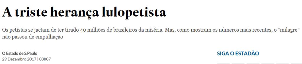 Estadão e a herança de Lula