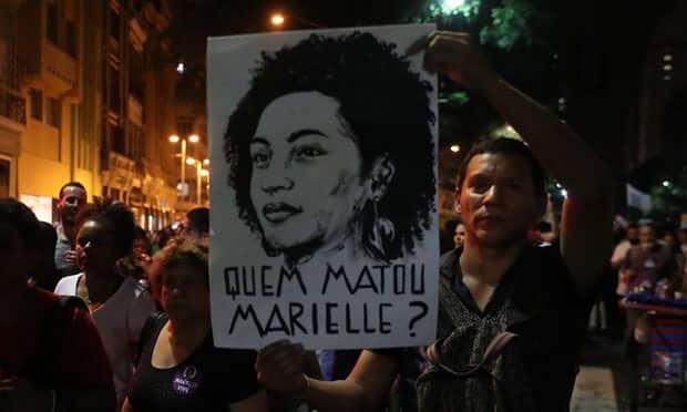 Manifestação no Rio em memória de Marielle Franco em março.