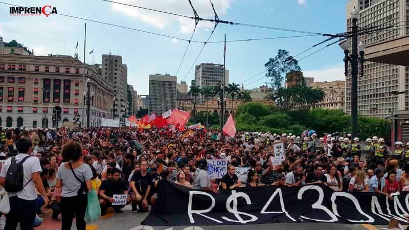 Manifestação do MPL termina sem conflitos