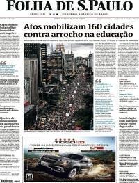 Atos mobilizam 160 cidades contra arrocho na educação