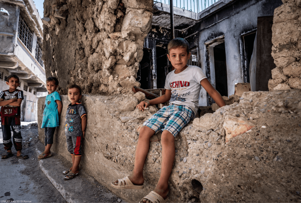 Crianças em regiões de conflito armado